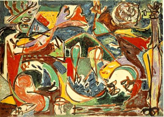 The Key by Jackson Pollock (c) 1946 displayed in Art Institute of Chicago