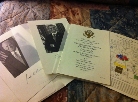 Invitation to the 57th U.S. Presidential Inauguration