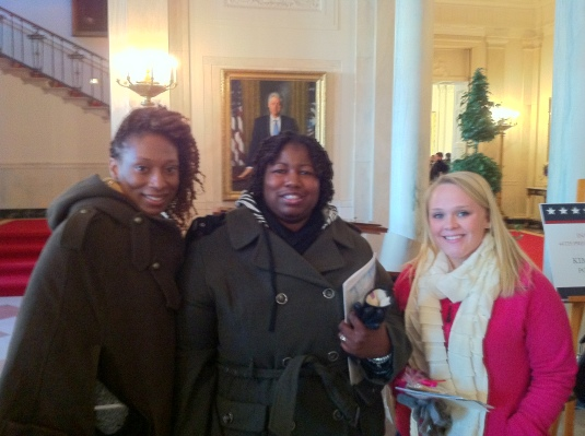 Some of the South Carolina Team with President Clinton Looking Over Our Shoulder